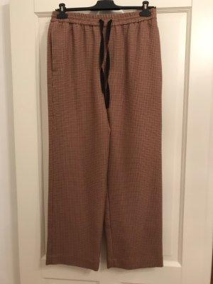 Zara Woman Pantalon en laine multicolore