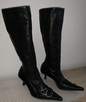 Zara Stretch laarzen zwart-zilver