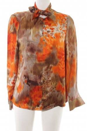 Stropdasblouse abstract patroon elegant
