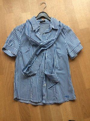 Schluppen Bluse in schönem Streifen-Look