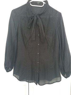 Schluppen-Bluse schwarz