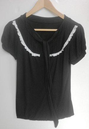 Schluppen Bluse Shirt mit Spitze im Rockabilly Lolita Stil von Küstenluder