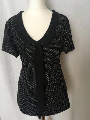 Vive Maria Tie-neck Blouse black-white mixture fibre