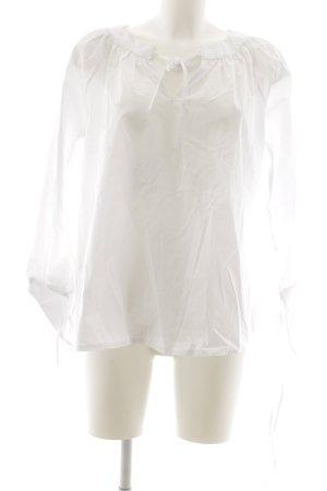 Blouse avec noeuds blanc style romantique