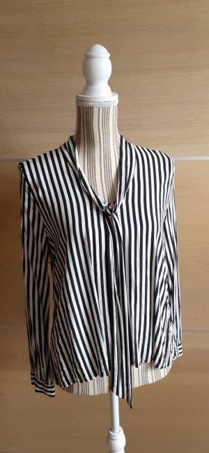 H&M Stropdasblouse wit-zwart