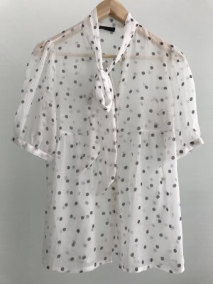 Vero Moda Blusa con lazo blanco-color plata