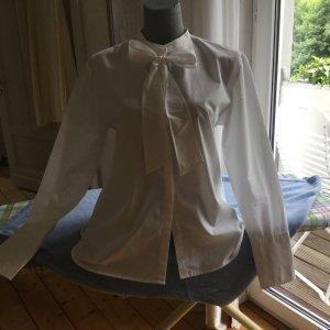 Sweewe Blusa collo a cravatta bianco