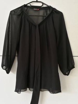 Only Blusa collo a cravatta nero