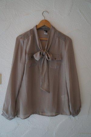 Heine Tie-neck Blouse grey polyester