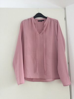 Vero Moda Blusa con lazo rosa