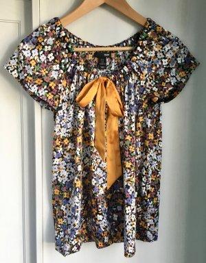 H&M Blouse avec noeuds multicolore polyester