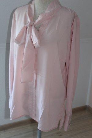 Blusa con lazo rosa empolvado-rosa