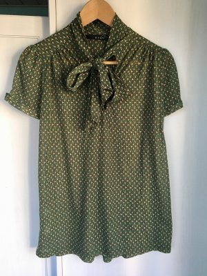 Schluppenbluse Shirt Gr. S Schleife Print Mango