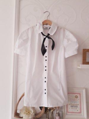 Camicia a maniche corte bianco-nero