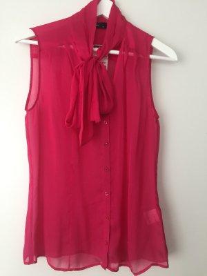 Hallhuber Blouse avec noeuds magenta-rose fluo