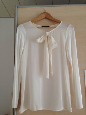 Hallhuber Tie-neck Blouse natural white mixture fibre