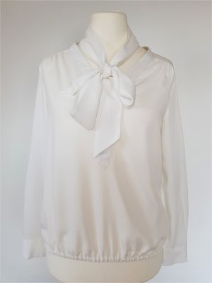 More & More Tie-neck Blouse white