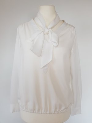 More & More Blusa collo a cravatta bianco