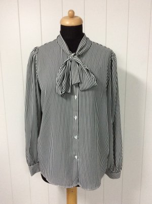 Blouse avec noeuds blanc-noir polyester