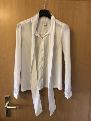 Vila Blusa collo a cravatta bianco