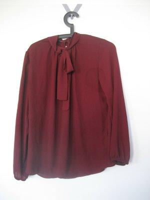 Anna Field Tie-neck Blouse dark red