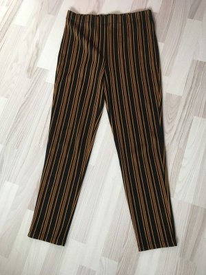 Forever 21 Pantalon cigarette noir-orange foncé