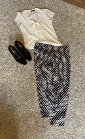 H&M Pantalone a 7/8 nero-bianco