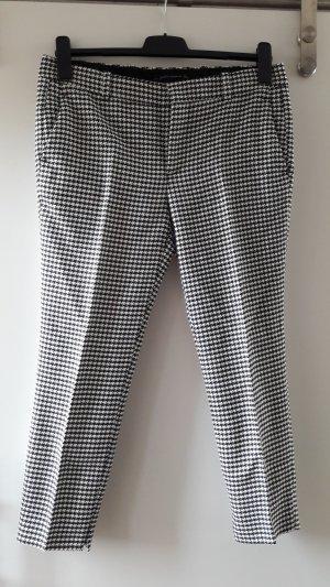 Zara Pantalone a pieghe bianco-nero Sintetico