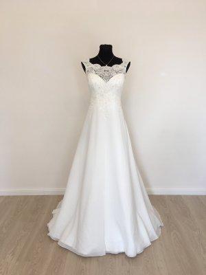 Schmale A-Linie Etui Brautkleid Hochzeitskleid Gr. 40-42 Ivory