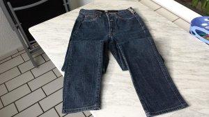 Schmale Jeans blau gerades Bein High Waist Gr. 34 (36) von Marithe + Francois Girbaud