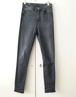 Schmale Jeans, grau, Mango, Größe 36