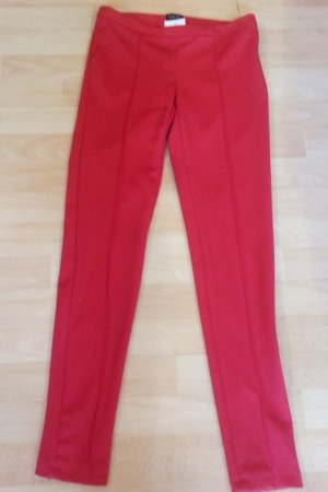 Jones Pantalón pitillo rojo Viscosa