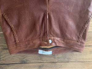 Leather Trousers cognac-coloured