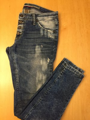 Schmale Please Jeans Vintage Look destroyed coole Waschung Gr. M 36-38