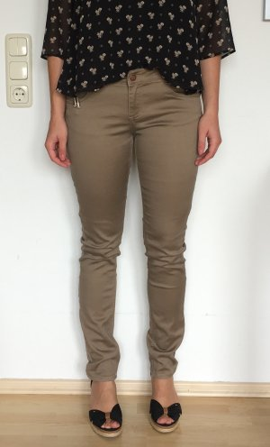 Schmale Stoffhose taupe Orsay Gr. 36/38