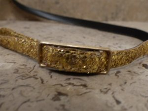 Faux Leather Belt gold-colored imitation leather