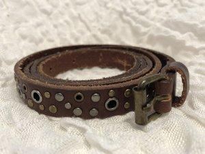 H&M Studded Belt multicolored imitation leather