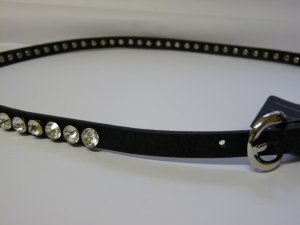 Studded Belt black-silver-colored synthetic