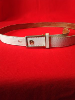 Pierre Cardin Leather Belt white-gold-colored leather