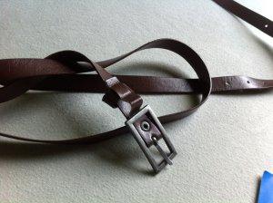Boucle de ceinture brun-brun rouge