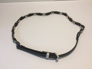 Michael Kors Belt black-silver-colored leather