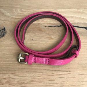 Schmaler Pinker Ledergürtel von Boden Direct Gr L