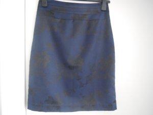 Schmaler Rock H&M schwarz/blau Blumen