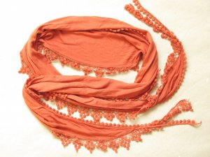 Opus Fringed Scarf russet