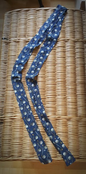 Silk Scarf dark blue-sand brown silk