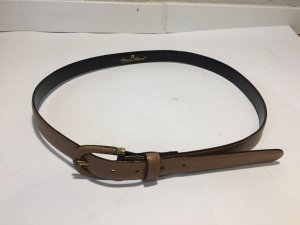 Etienne Aigner Leather Belt light brown-gold-colored leather