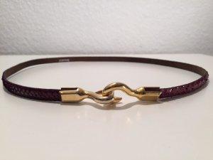 Schmaler Vintage Gürtel/Taillengürtel Schlangenleder
