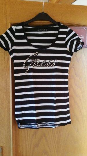 Guess Camiseta estampada negro-blanco Algodón