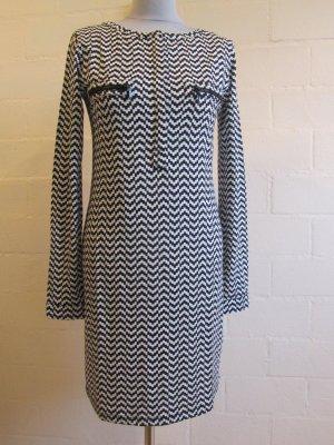 Schmales Kleid, 95% Viskose, schwarz-weiß, Gr. 36/38 NEU