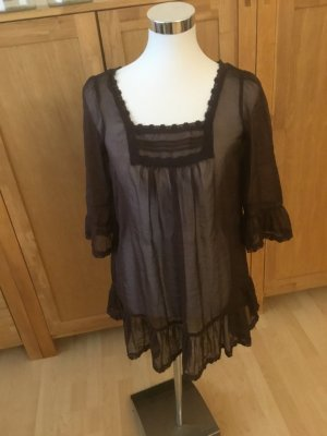 Transparent Blouse bronze-colored polyester